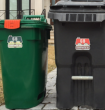 Curbside Bin Labels